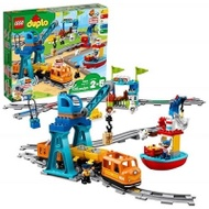 LEGO 樂高 DUPLO Cargo Train 10875 Battery-Operated Building Blocks Set (105 Pieces)