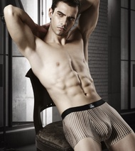 [華歌爾] Mr. Dadado 頂級黑標系列M-4L四角褲(黑白直條紋)M黑白直條紋M