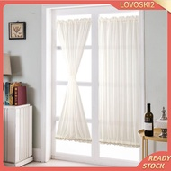 [LOVOSKI2] White French Door Curtain Panel Rod Pocket Blackout Curtains