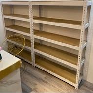 免螺絲角鋼 高90 長120 深30 兩層木板*2要木板全貼皮 白的