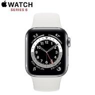 【限時95折】Apple Watch Series 6 GPS+LTE版 44mm 銀色鋁金屬錶殼配白色運動錶帶 (MG2C3TA/A)