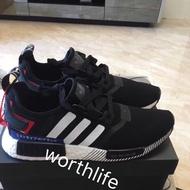 最新款 Adidas NMD R1 Japan 日本限定 黑白 黑紅 白藍紅 編織 日文 BOOST EF2357