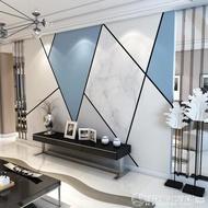 北歐8D墻紙幾何線條現代簡約電視背景墻壁紙客廳影視墻布壁布壁畫