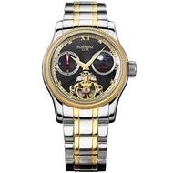 【BOSSWAY】豪邁征服飛輪機械錶(黑-45mm)