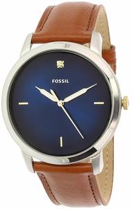 Fossil Men's The Minimalist FS5499 Silver Leather Japanese Quartz Fashion Watch