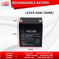 12V 5AH / 20HR UPS Sealed Rechargeable Lead Acid Battery 12 VOLTS 5 AMPERE HOUR ( Ebike Battery Battery Rechargeable UPS Original Battery )