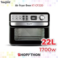 [Shop Malaysia] INNOFOOD Air Fryer Oven KT-CF22D (22L) Digital Display Dehydrator Function Double Glass Baking Frying Rotisserie Basket