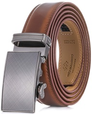 Marino Menâs Genuine Leather Ratchet Dress Belt With Automatic Buckle, Enclosed in an Elegant Gift Box