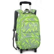 วัยรุ่น 6 ล้อถอดได้รถเข็นกระเป๋าเดินทางกระเป๋าเป้สะพายหลังกระเป๋านักเรียนนักศึกษา #2 ล้อ