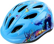Helmet 3-12 Children Road Bike Helmet for Cycling Skating Scooter Outdoor Sports Safety Protection Head Helmets EPS (Color : E blue-Free) (Color : E blueFree)