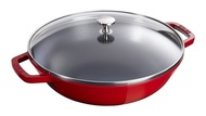 Staub 中華炒鍋 含鍋蓋+瀝油架_ 30cm/ 37cm