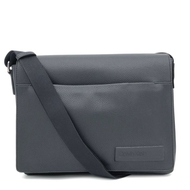 Calvin Klein 公事包 斜背包 郵差包 荔枝紋合成皮革 手提包 書包 C60409 黑色CK(現貨)