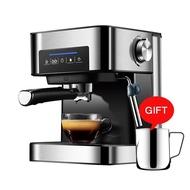 1.5L 220V 20Bar Espresso เครื่องชงกาแฟขนาดเล็กกึ่งอัตโนมัติอิตาเลี่ยนกาแฟเครื่องทำไอน้ำแฟนซีฟองนม Maker
