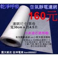 4.5米 靜電棉 靜電空氣濾網 小米靜電濾網 冷氣濾棉 PM2.5 活性碳 SHARP Honeywell 口罩