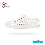 native水鞋 男女童鞋 大童 奶油頭 洞洞鞋 休閒鞋 懶人鞋 親子鞋 女鞋可穿 JEFFERSON J9435#白色