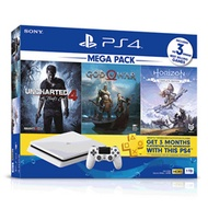 Sony PlayStation 4 PS4 Slim 1TB Console (Glacier White) + 3 Games Mega Pack