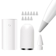 Suitable for Apple Pencil Nib/Cap/Adapter with 10Pcs Silicone Tip Protective Cover for Apple Pencil 1St 2Nd