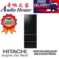 HITACHI R-HW610JS-XK 463L 6 DOOR FRIDGE *** 1 YEAR HITACHI WARRANTY *** FREE DELIVERY !!
