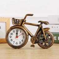 復古懷舊自行車模型個性鬧鐘創意單車時鐘錶居家臥室裝飾擺件鬧鐘『小宅妮時尚』
