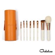 【Galatea葛拉蒂】金顏短柄系列 8支裝頂級彩妝刷具組(橘)