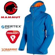 【Mammut 長毛象 瑞士】Nordwand HS 極限艾格系列 防水+保暖化纖外套 男款 防水外套 保暖夾克 冰藍色 (24750-5072)