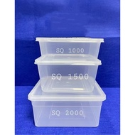 Microwavable container,Square SQ 1000 ml,SQ1500 ml,SQ2000ml,canister,food storage,microwave safe tub
