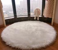 地毯鋪滿可愛圓形ins風梳妝臺羊毛地墊臥室毛毛地毯
