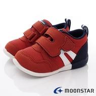 日本月星Moonstar機能童鞋HI系列3E寬楦頂級學步鞋款1111暗紅(寶寶段)SUPER SALE樂天購物節