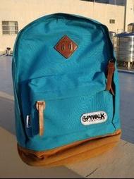[新竹市可面交、買就送頸枕]Spywalk天藍色休閒後背包、開學書包 可裝14吋筆電、課本參考書,兩側水壺收納袋