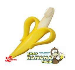 樂兒館※ 公司貨 美國【Baby Banana Brush】剝皮香蕉牙刷│心型香蕉固齒器│無毒 適0-1歲 B160