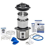 9-in-ulti-Use Programmable Pressure Cooker, 6 Quart Stainless Steel Pot, with Recipes, Deluxe Accessory Kit and Instant Warranty by Yedi Houseware