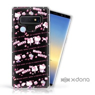 【SANRIO 三麗鷗】Samsung Galaxy Note 9 Hello Kitty 彩繪水鑽空壓手機殼(天真)