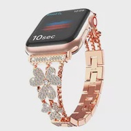 เครื่องประดับสำหรับ Apple นาฬิกา SE Series 6สาย44มม.40มม.Bling สร้อยข้อมือสแตนเลสสำหรับ IWatch 5 4 Applewatch 38