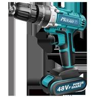 電鑽 德國牧藍大功率48v充電式鋰電鉆 沖擊手槍手鉆電動螺絲刀手電轉鉆