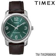 Timex TM-TW2R86900 นาฬิกาข้อมือผู้ชาย สายหนัง สีน้ำตาล