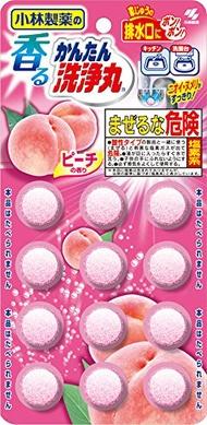 日本小林製藥 洗淨丸排水管清潔錠-蜜桃( 5.5gX12錠)