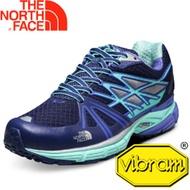 【The North Face 女 越野跑鞋 星光藍 浪花綠】CXX7/越野跑鞋