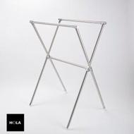 【HOLA】304不鏽鋼X型伸縮曬衣架