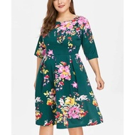 FLORAL 3 /4,CASUAL DRESS