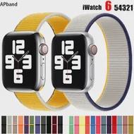 ไนลอนสำหรับ Apple Watch Band 44มม.40มม.42มม.38มม.Smartwatch สายรัดข้อมือกีฬาสร้อยข้อมือ IWatch Series 3 4 5 6 Se Band