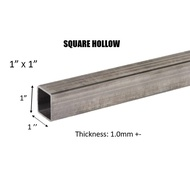 "MILD STEEL/ BESI HOLLOW (BESI) 1"" SQUARE HOLLOW - (TEBAL 1.0MM +-)#BS #DIY"