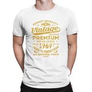 Vintage 1969 Birthday Gift Idea 50 Years Old 50Th Birthday Gift O-Neck Cotton Men T Shirt White