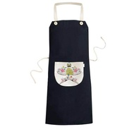 Kite Chinese Culture Traditional Pattern Cooking Kitchen Black Bib Aprons With Pocket for Women Men Chef Gifts - intl