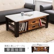 【時尚屋】本森4.3尺雙色積層木大茶几 UF8-4+UF8-2*2(免運費 免組裝 茶几)