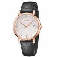 【Calvin Klein】CK紳士簡約皮帶腕錶43mm(K9H216C6)