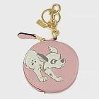 COACH 迪士尼粉色忠狗系列零錢包-粉紅