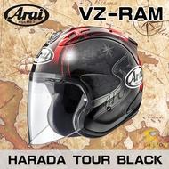 任我行騎士部品 ARAI VZ-RAM HARADA TOUR BLACK 世界地圖 黑紅 3/4 半罩 安全帽 全新款 VZ RAM