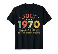July 1970 50 Years Old Vintage 50th Birthday Gifts T-Shirt Vintage Men Gift Tee