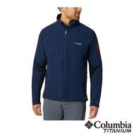 【Columbia 哥倫比亞】男款-鈦 Omni-HEAT鋁點保暖防潑軟殼外套-深藍(UEE02480NY / 防潑.保暖.透氣)