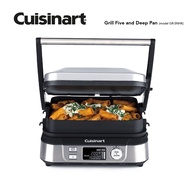 CUISINART Grill Five and Deep Pan GR-5NHK Healthy Grill Digital Griddler Removable Plates BBQ Drip Tray Easy Cleaning